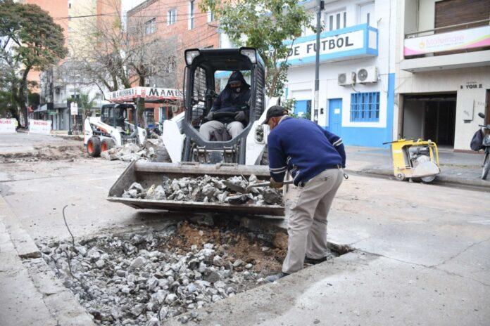 El municipio continúa con el Plan de Bacheo en el micro centro